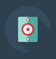 Flat modern design with shadow icons audio vector