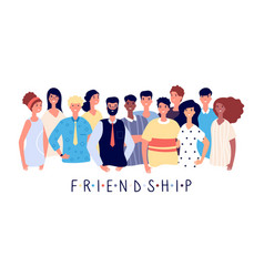 friendship poster people crowd international vector image