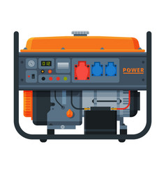 Gasoline power immovable generator diesel vector