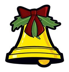 golden christmas bell holiday graphic icon vector image