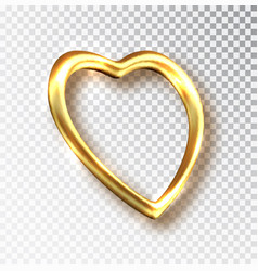 golden hearts isolated on white background vector image