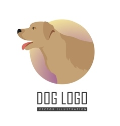 Golden Retriever Dog Logo on White Background vector