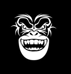 Gorilla head logo vector