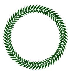 green laurel wreaths vector image