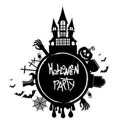 halloween party logo vector image