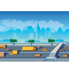 Highway in a big city vector