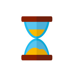 isolated sand hourglass icon flat design vector image