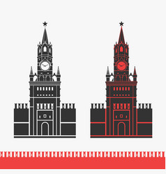 Kremlin clock chimes moscow symbol vector