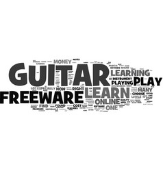 Learn to play guitar freeware text background vector