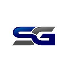 Letter sg generic logo vector