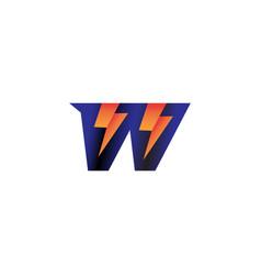 Letter w initial logo design template alphabet vector