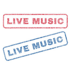 Live music textile stamps vector