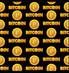 Logo bitcoin seamless pattern vector