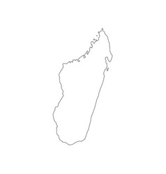 Madagascar map outline vector