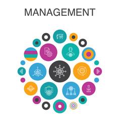 Management infographic circle concept smart ui vector