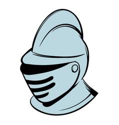 medieval helmet icon cartoon vector image