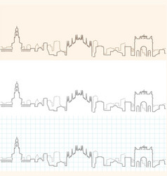 Milan hand drawn skyline vector