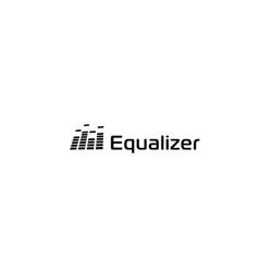 Music sound wave logo audio digital equalizer vector