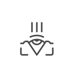 ophthalmology line icon vector image
