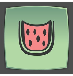 Outline watermelon slice fruit icon modern logo vector