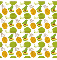 pattern background with fruit elementswatermelon vector image