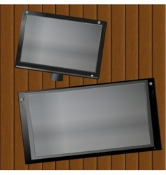 Picture frame on the boards vector
