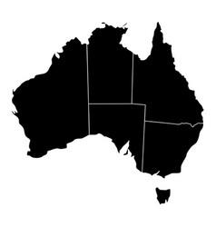 political map of australia vector image