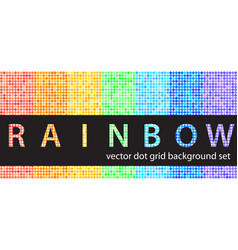 polka dot pattern set rainbow seamless geometric vector image