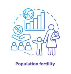 Population fertility concept icon birthrate idea vector