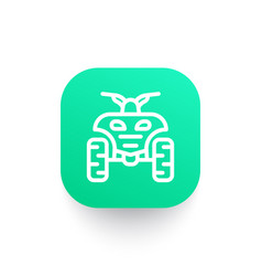 Quad bike line icon vector