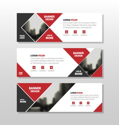 Red abstract triangle corporate business banner vector image