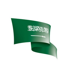 Saudi arabia flag on a white vector