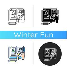scrapbook icon vector image
