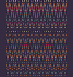 seamless wavy lines simple pattern vector image