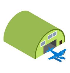 Seaplane icon isometric style vector