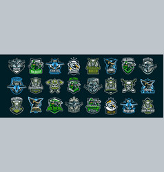 set military emblems soldiers military vector image