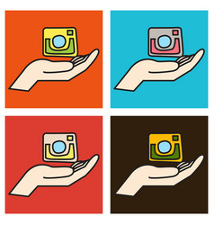set of unusual look web icon of modern lineart vector image