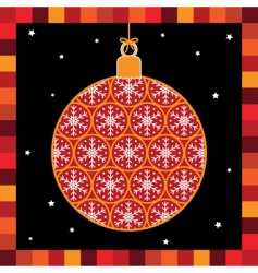snowflake bauble vector image