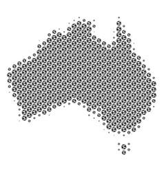 Soccer ball australia map mosaic vector