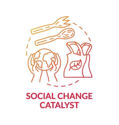 Social change catalyst concept icon vector