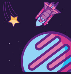 space galaxy card vector image