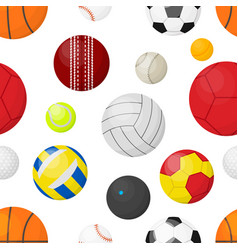 sport balls background flat banner with balls for vector image