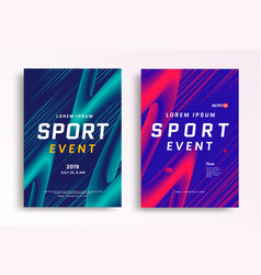 sport event poster layout design template vector image