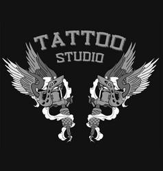 Tattoo studio logo vector