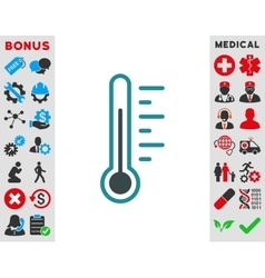 Temperature Level Icon vector image