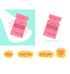 ticket offer set vector image