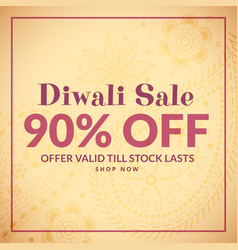 traditional diwali background with sale banner vector image