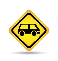 Traffic sign concept icon van car vector