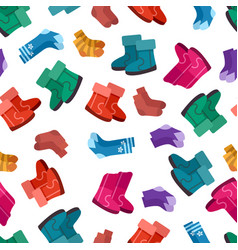 uggs and socks seamless pattern vector image