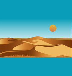 Uninhabited african desert with sand dunes and vector